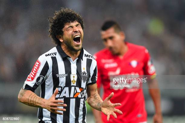 Luan of Atletico MG reacts during a match between Atletico MG and Jorge Wilstermann as part of Copa Bridgestone Libertadores 2017 at Mineirao Stadium...