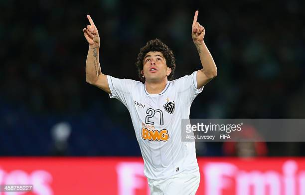Luan of Atletico Mineiro celebrates after scoring the winning goal during the FIFA Club World Cup 3rd place match between Guangzhou Evergrande FC and...