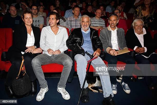 Luana Belmondo Alessandro Belmondo Jean Paul Belmondo Paul Belmondo and Charles Gerard attend the 'Belmonod By Belmondo' presentation during the 7th...