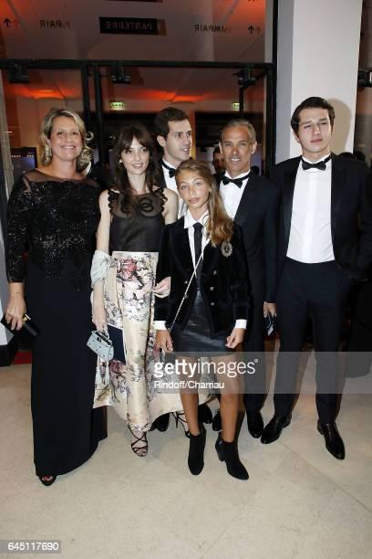Luana Belmondo Annabelle Waters Belmondo Alessandro Belmondo Stella Belmondo Paul Belmondo and Victor Belmondo attend Cesar Film Award 2017 at Salle...