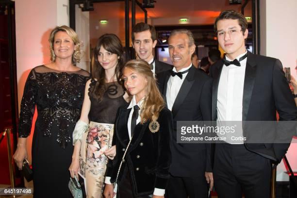 Luana Belmondo Annabelle Waters Belmondo Alessandro Belmondo Stella Belmondo Paul Belmondo and Victor Belmondo attend the Cesar Film Awards 2017...