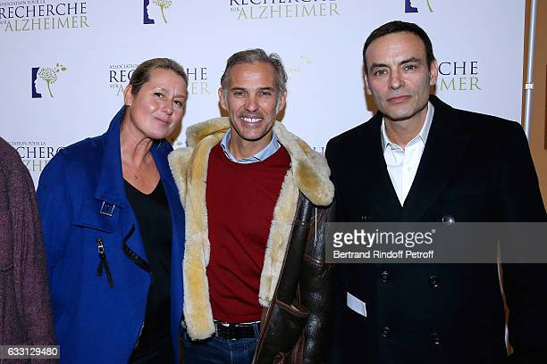 Luana Belmondo her husband Paul Belmondo and Anthony Delon attend the Charity Gala against Alzheimer's disease at Salle Pleyel on January 30 2017 in...