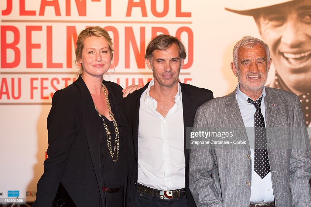 Luana Belmondo, Paul Belmondo and Jean Paul Belmondo attend the Tribute of Jean Paul Belmondo and Opening Ceremony of the Fifth Lumiere Film Festival, in Lyon.