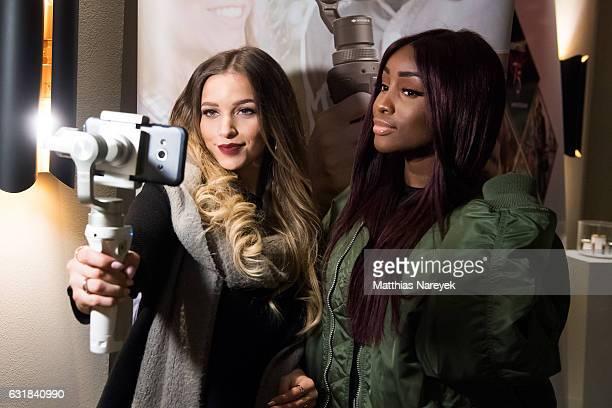 Luana Silva and Sandra Lambeck attend the '#enjoylife' Fashion Week Kickoff on January 16 2017 in Berlin Germany