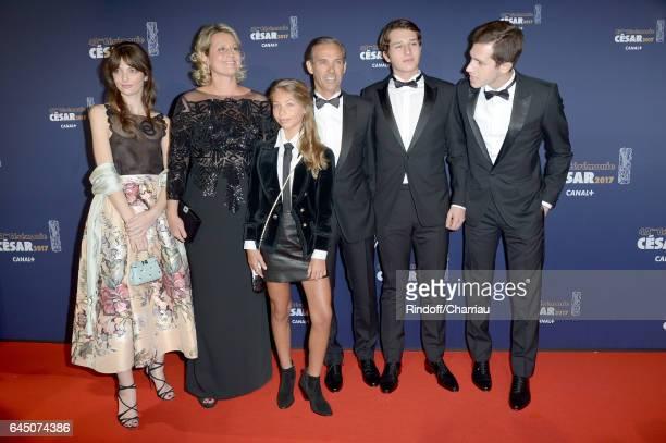 Luane Belmondo Stella Belmondo Paul Belmondo and Victor Belmondo arrive at the Cesar Film Awards Ceremony at Salle Pleyel on February 24 2017 in...