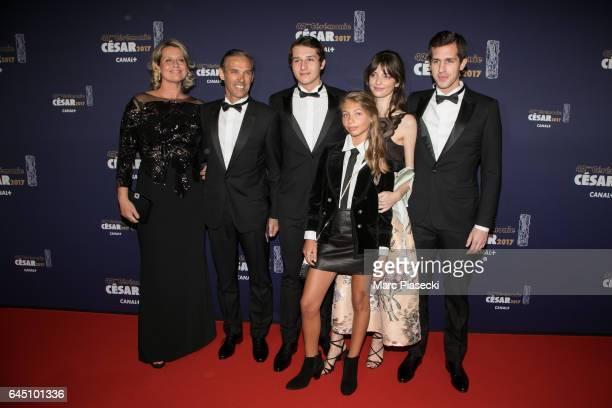 Luane Belmondo Stella Belmondo Paul Belmondo and Victor Belmondo attend the the Cesar Film Awards 2017 ceremony at Salle Pleyel on February 24 2017...