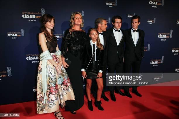 Luane Belmondo Stella Belmondo Paul Belmondo and Victor Giacomo Belmondo arrive at the Cesar Film Awards 2017 ceremony at Salle Pleyel on February 24...