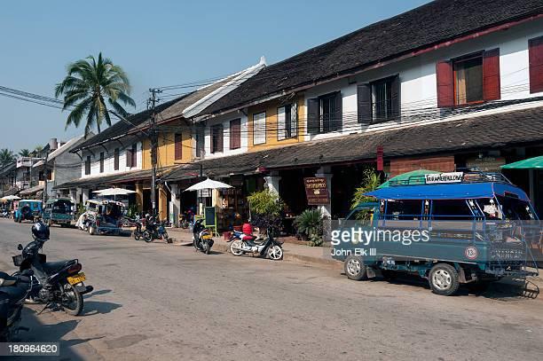 Luang Prabang, commercial street scene