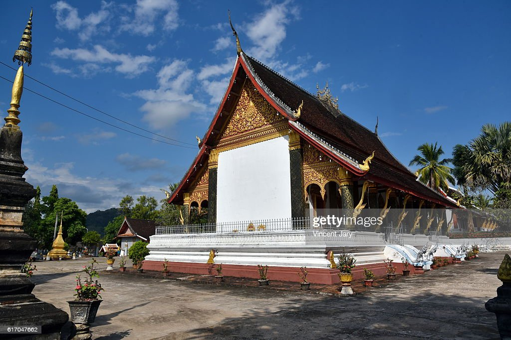 luang prabang temple Laos Asia : Stock Photo