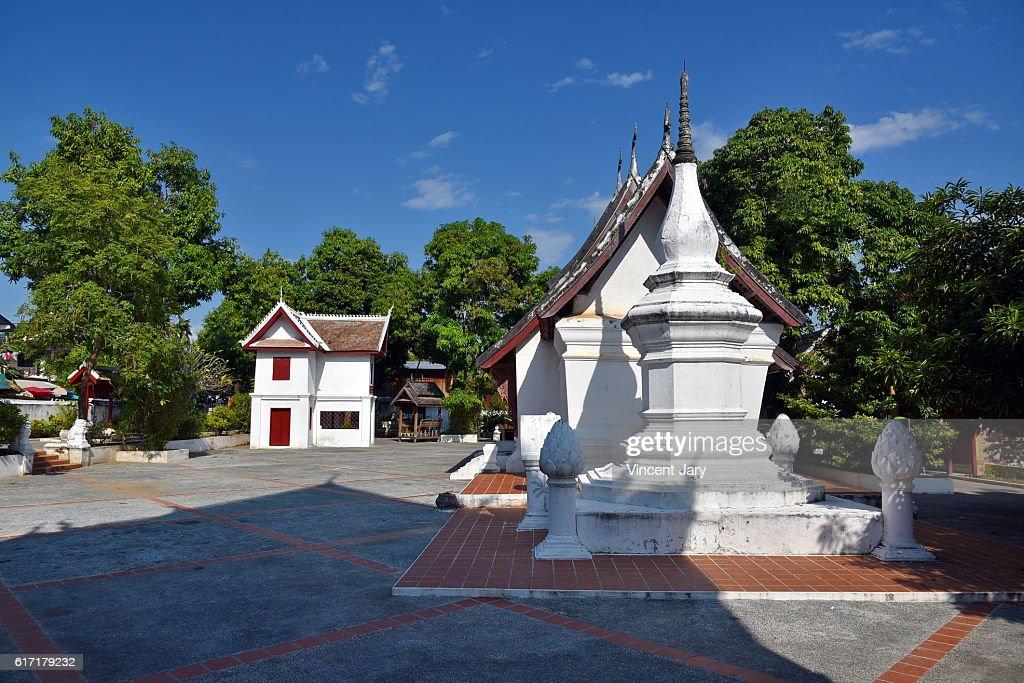 Luang prabang temple Laos Asia : Stock Photo