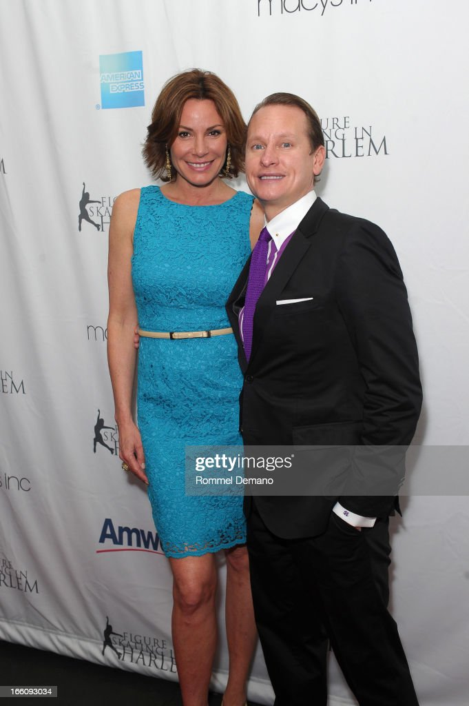 LuAnn de Lesseps and Carson Kressley attend The 2013 Skating With The Stars Benefit Gala at Trump Rink at Central Park on April 8, 2013 in New York City.