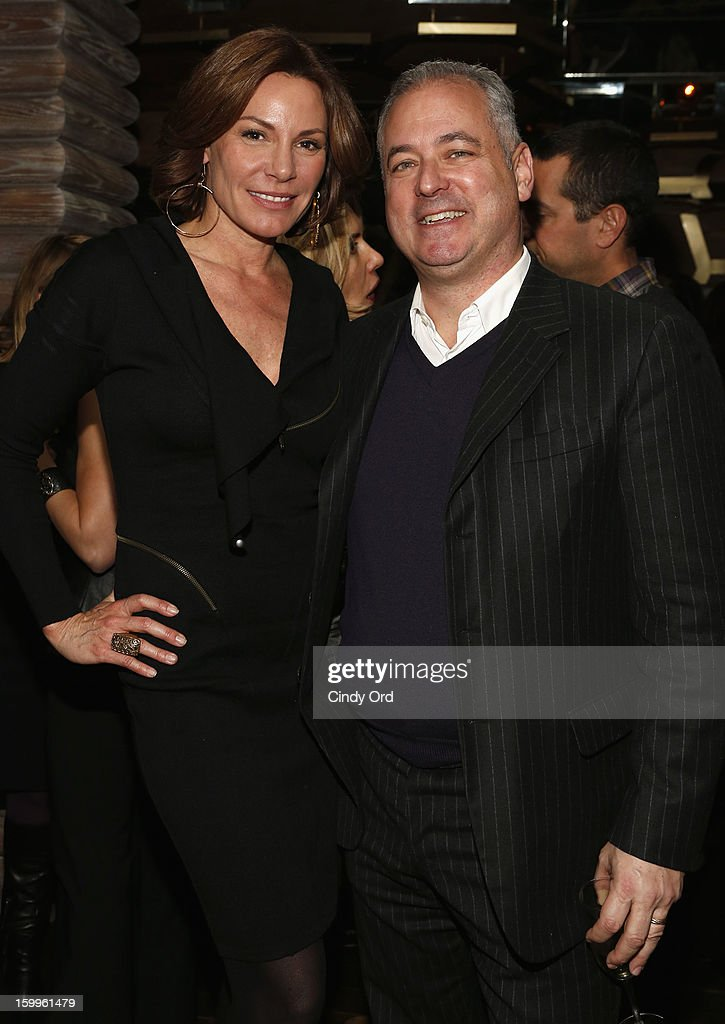 LuAnn de Lesseps and guest attend DuJour Magazine Gala With Coco Rocha & Nigel Barker Presented by Invicta at Scott Sartiano and Richie Akiva's The Darby on January 23, 2013 in New York City.