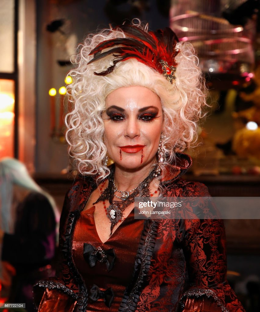 Luann de Lesseps attends Luann de Lesseps & Dita Von Teese Halloween party at Manor849 on October 28, 2017 in New York City.