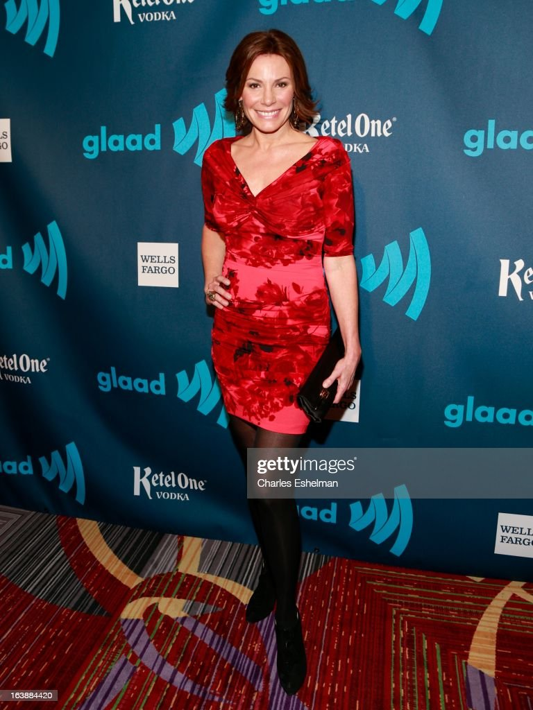 LuAnn de Lesseps attends the 24th annual GLAAD Media awards at The New York Marriott Marquis on March 16, 2013 in New York City.