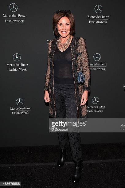 LuAnn de Lesseps is seen during MercedesBenz Fashion Week Fall 2015 at Lincoln Center for the Performing Arts on February 17 2015 in New York City