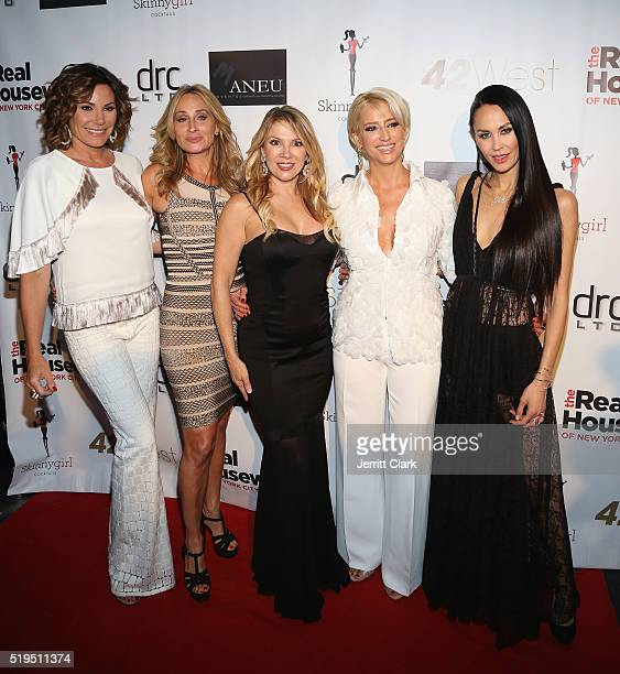 Luann de Lesseps Sonja Morgan Ramona Singer Dorinda Medley and Julianne Wainstein arrive at the 'The Real Housewives of New York City' Screening...