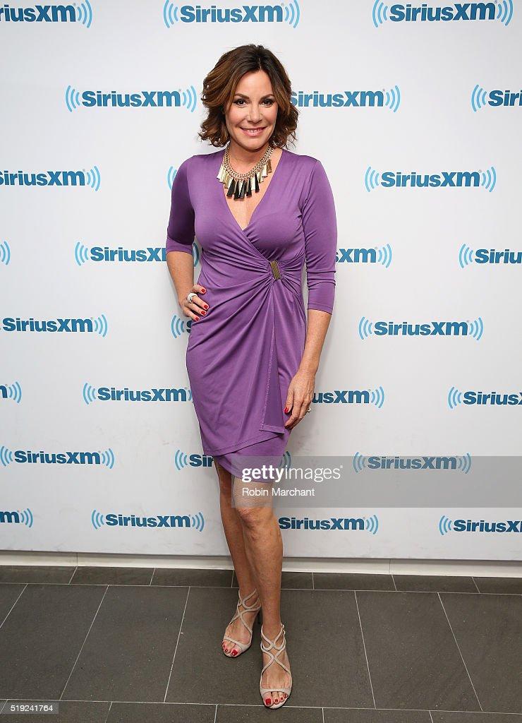 Luann de Lesseps visits at SiriusXM Studio on April 5, 2016 in New York City.