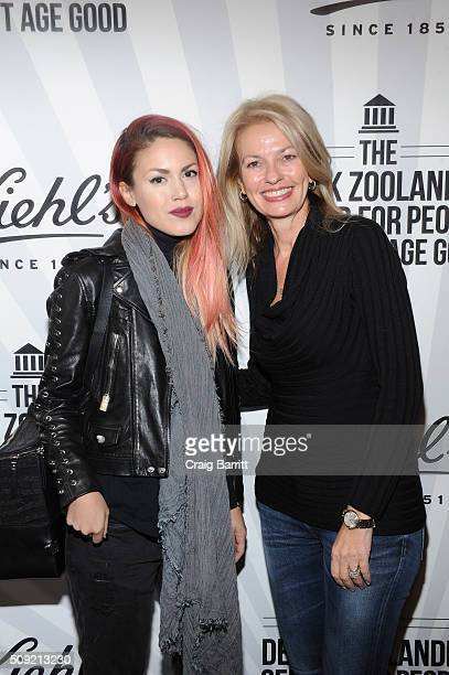 Luanna PerezGarreaud and Kiehl's General Manager Worldwide Cheryl Vitali attend Kiehl's Zoolander Center Opening on February 9 2016 in New York City