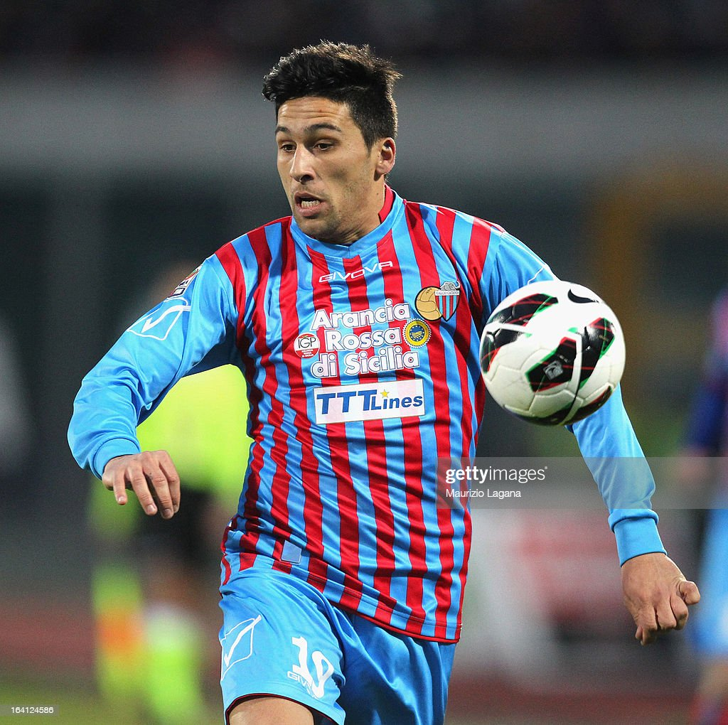 Luas Castro of Catania during the Serie A match between Calcio Catania and Udinese Calcio at Stadio Angelo Massimino on March 16 2013 in Catania Italy