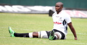 Lubabalo Mtembu during the Vodacom Cup match between Sharks XV and Western Provice at Mr Price Kings Park on March 17 2012 in Durban South Africa