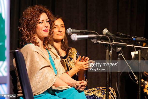 Lubna Salamehi and Tzipporah ElRei of Diwan Saz perform onstage at 'International Daystage' during the 2015 SXSW Music Film Interactive Festival at...