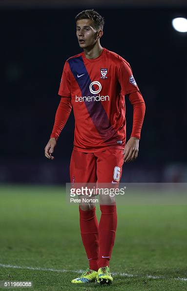 Lubo Satka of York City in action during the Sky Bet League Two match between York City and Northampton Town at Bootham Crescent on February 23 2016...