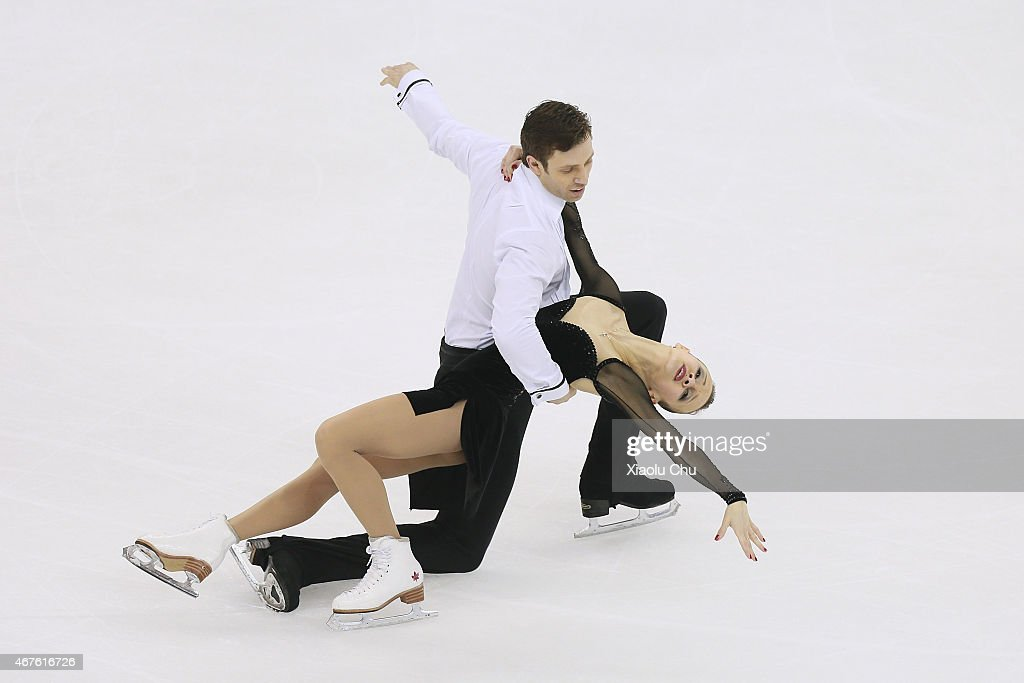 Lubov Iliushechkina and <a gi-track='captionPersonalityLinkClicked' href=/galleries/search?phrase=Dylan+Moscovitch&family=editorial&specificpeople=7301055 ng-click='$event.stopPropagation()'>Dylan Moscovitch</a> of Canada perform during the Pairs Free Skating on day two of the 2015 ISU World Figure Skating Championships at Shanghai Oriental Sports Center on March 26, 2015 in Shanghai, China.