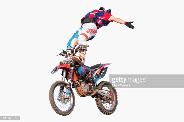 Luc Ackermann of Germany in action during the Red Bull XFighters World Tour at the Munich Olympic Park on July 19 2014 in Munich Germany