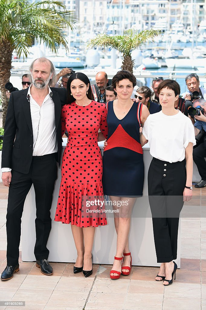 <a gi-track='captionPersonalityLinkClicked' href=/galleries/search?phrase=Luc+Besson&family=editorial&specificpeople=226803 ng-click='$event.stopPropagation()'>Luc Besson</a>, Actress <a gi-track='captionPersonalityLinkClicked' href=/galleries/search?phrase=Monica+Bellucci&family=editorial&specificpeople=204777 ng-click='$event.stopPropagation()'>Monica Bellucci</a>, director <a gi-track='captionPersonalityLinkClicked' href=/galleries/search?phrase=Alice+Rohrwacher&family=editorial&specificpeople=7791516 ng-click='$event.stopPropagation()'>Alice Rohrwacher</a> and <a gi-track='captionPersonalityLinkClicked' href=/galleries/search?phrase=Alba+Rohrwacher&family=editorial&specificpeople=4296508 ng-click='$event.stopPropagation()'>Alba Rohrwacher</a> (R) attends 'The Wonders' photocall at the 67th Annual Cannes Film Festival on May 18, 2014 in Cannes, France.