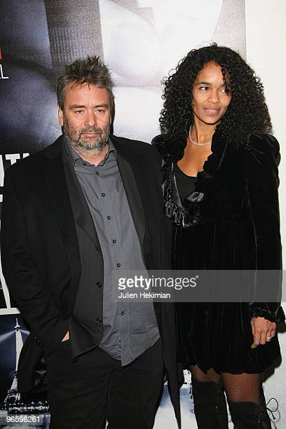 Luc Besson and his wife Virginie Silla attend 'From Paris with Love' Paris premiere at Cinema UGC Normandie on February 11 2010 in Paris France