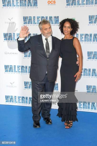Luc Besson and Virginie Besson Silla attend 'Valerian et la Cite desMille Planetes' Paris Premiere at La Cite Du Cinema on July 25 2017 in SaintDenis...