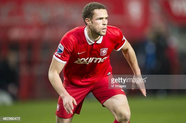 Luc Castaignos of FC Twente during the Dutch Cup match between FC Twente and AZ Alkmaar at the Grolsch Veste on January 27 2015 in Enschede The...