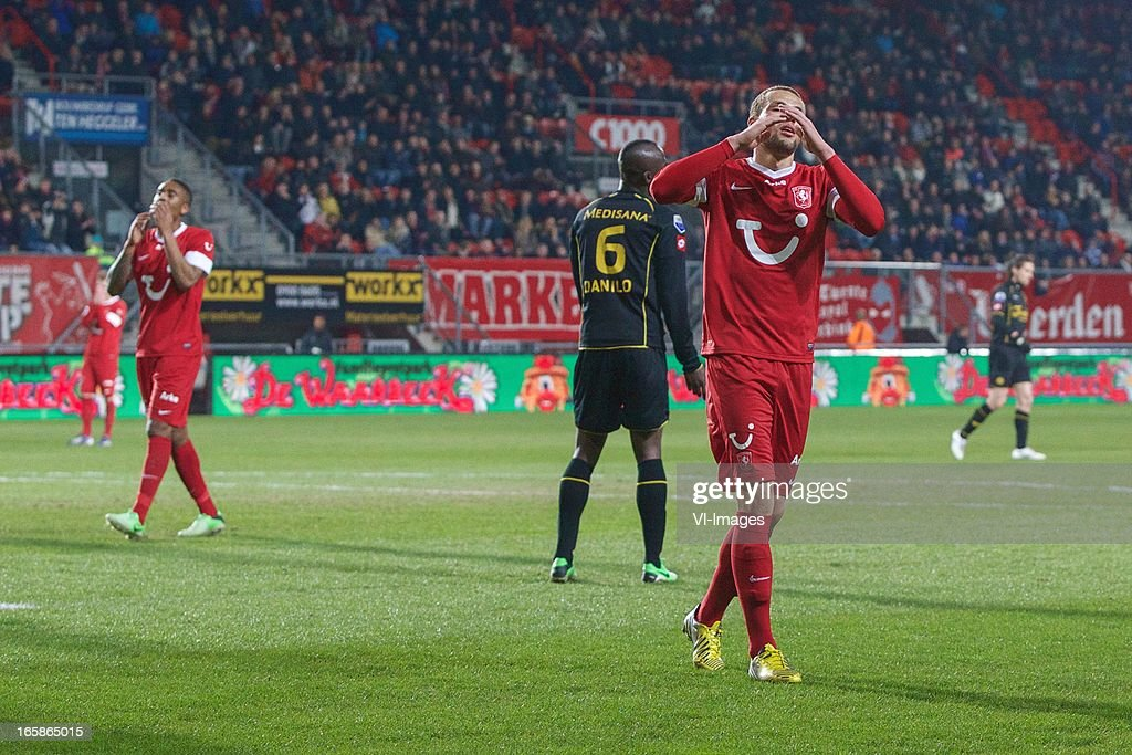 Luc Castaignos of FC Twente during the Dutch Eredivisie match between FC Twente and Roda JC at the Grolsch stadium on April 6, 2013 in Enschede, The Netherlands
