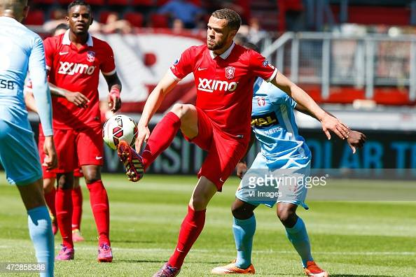 Luc Castaignos of FC Twente during the Dutch Eredivisie match between FC Twente and FC Dordrecht at the Grolsch Veste on May 10 2015 in Enschede The...