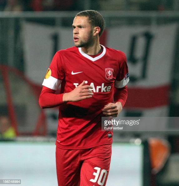 Luc Castaignos of FC Twente in action during the UEFA Europa League group stage match between FC Twente and Levante UD held on November 8 2012 at the...