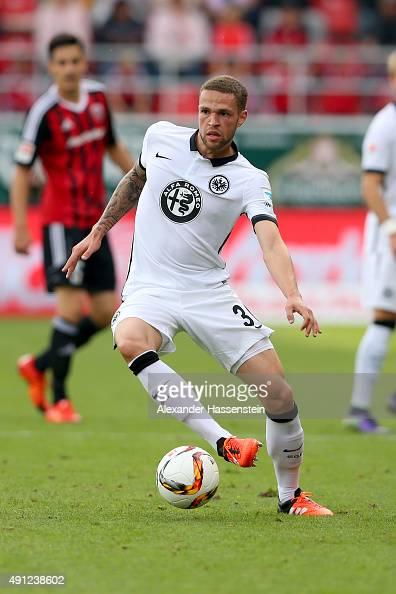 Luc Castaignos of Frankfurt runs with the ball during the Bundesliga match between FC Ingolstadt and Eintracht Frankfurt at Audi Sportpark on October...