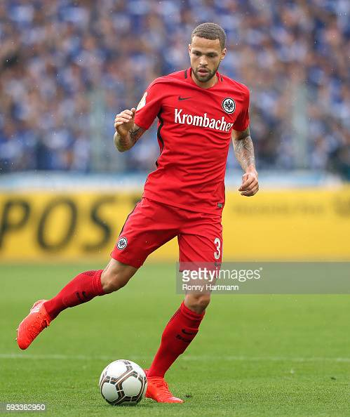 Luc Castaignos of Frankfurt runs with the ball during the DFB Cup match between 1 FC Magdeburg and Eintracht Frankfurt at MDCCArena on August 21 2016...