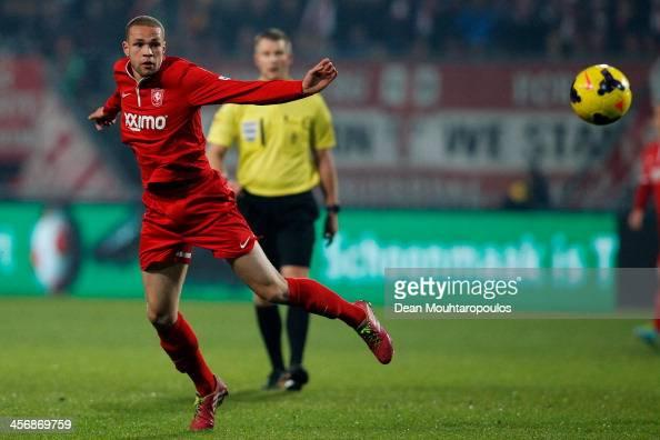 Luc Castaignos of Twente in action during the Eredivisie match between FC Twente and Go Ahead Eagles at De Grolsch Veste Stadium on December 14 2013...