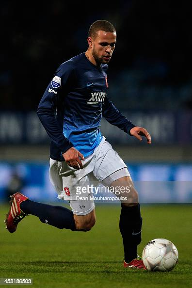Luc Castaignos of Twente in action during the Eredivisie match between RKC Waalwijk and FC Twente at the Mandemakers Stadion on December 20 2013 in...