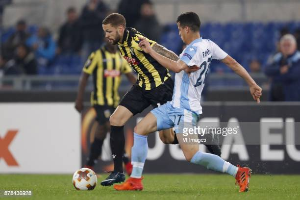 Luc Castaignos of Vitesse Luis Felipe Ramos Marchi of SS Lazio during the UEFA Europa League group K match between SS Lazio and Vitesse Arnhem at...