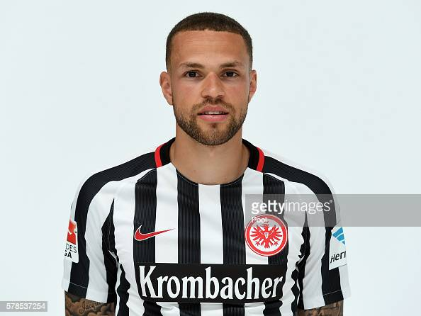 Luc Castaignos poses during the Eintracht Frankfurt Team Presentation on July 21 2016 in Frankfurt am Main Germany