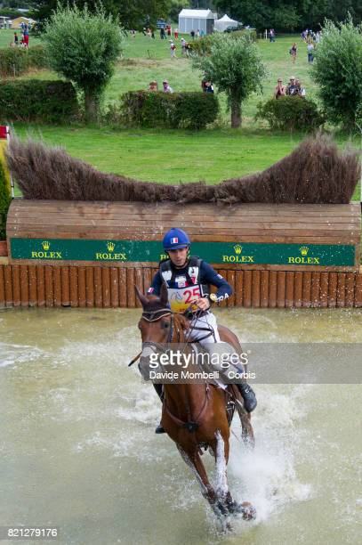 Luc Chateau of France riding Propriano de l'Ebat during CHIO Aachen Cross Country test DHL Prize on July 22 2017 in Aachen Germany