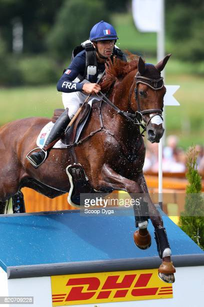Luc CHATEAU of France riding PROPRIANO DE LEBAT during Cross Country Jumping competition of the World Equestrian Festival on July 22 2017 in Aachen...