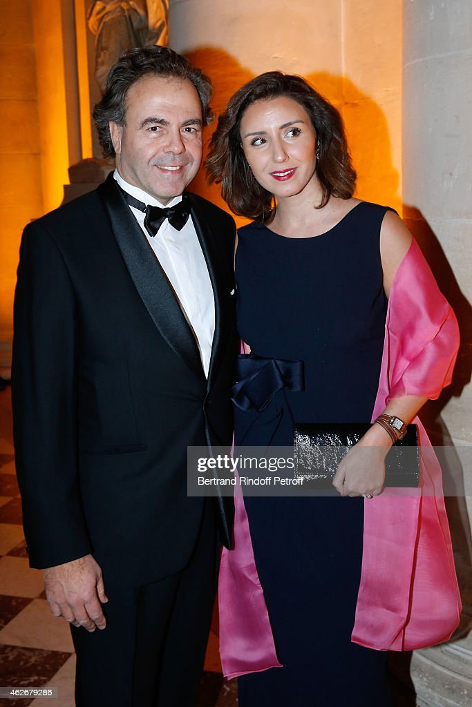 <a gi-track='captionPersonalityLinkClicked' href=/galleries/search?phrase=Luc+Chatel&family=editorial&specificpeople=4292995 ng-click='$event.stopPropagation()'>Luc Chatel</a> and Mahnaz Hatami attend the David Khayat Association 'AVEC' Gala Dinner. Held at Versailles Castle on February 2, 2015 in Versailles, France.