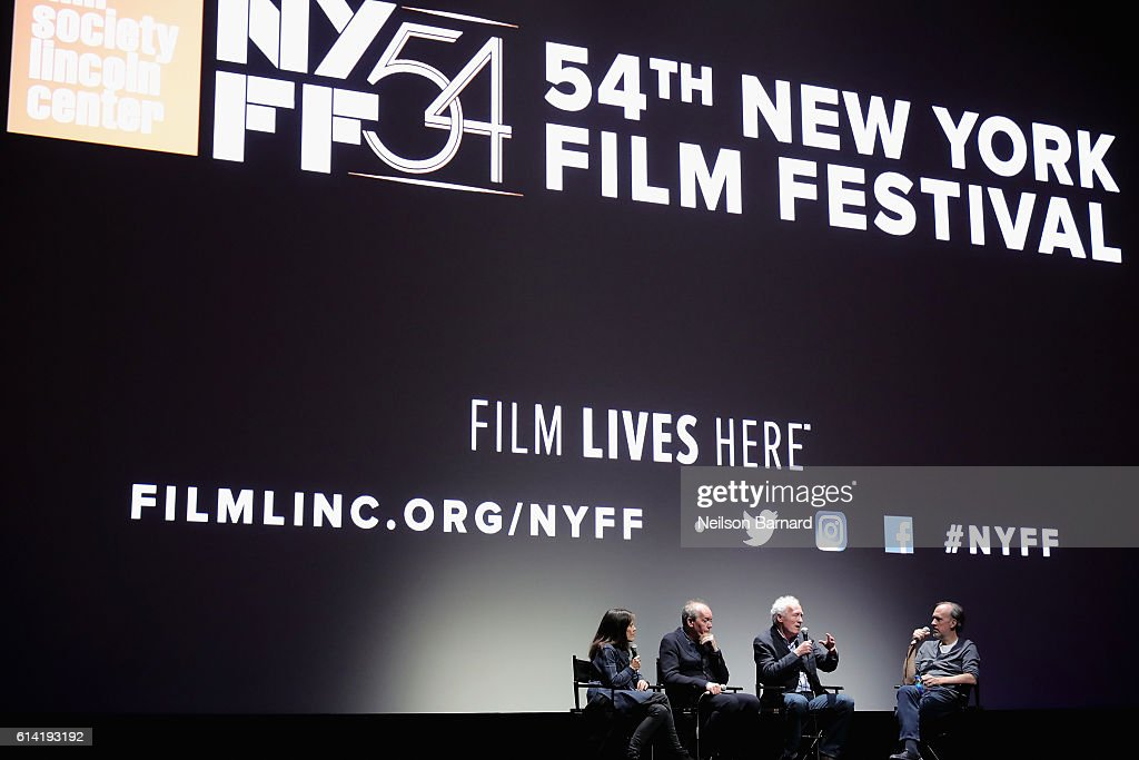 Luc Dardenne, Jean-Pierre Dardenne and Kent Jones speaks onstage at the 54th New York Film Festival - 'The Unknown Girl' Intro and Q&A at Alice Tully Hall, Lincoln Center on October 12, 2016 in New York City.