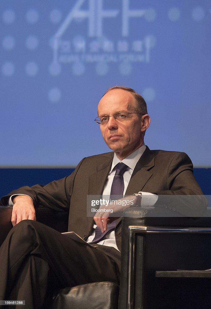 <a gi-track='captionPersonalityLinkClicked' href=/galleries/search?phrase=Luc+Frieden&family=editorial&specificpeople=651276 ng-click='$event.stopPropagation()'>Luc Frieden</a>, Luxembourg's finance minister, attends a dialogue session at the Asian Financial Forum in Hong Kong, China, on Monday, Jan. 14, 2013. The Asian Financial Forum runs till Jan. 15. Photographer: Jerome Favre/Bloomberg via Getty Images