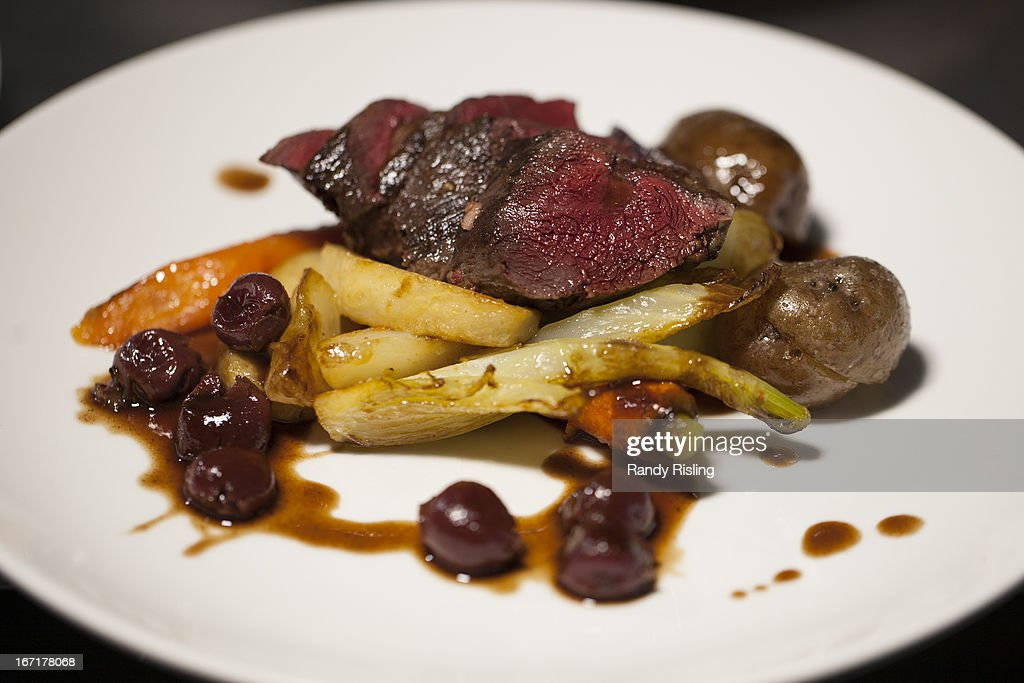 Luc Jomphe treated the Star to a seared fillet of seal with sour cherries and veal reduction
