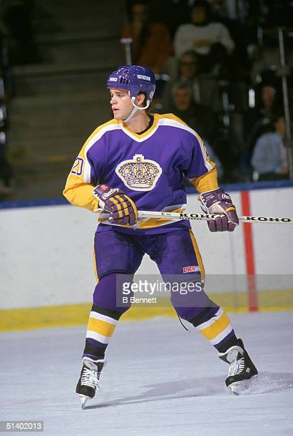 Luc Robitaille of the Los Angeles Kings skates during a game in 1986