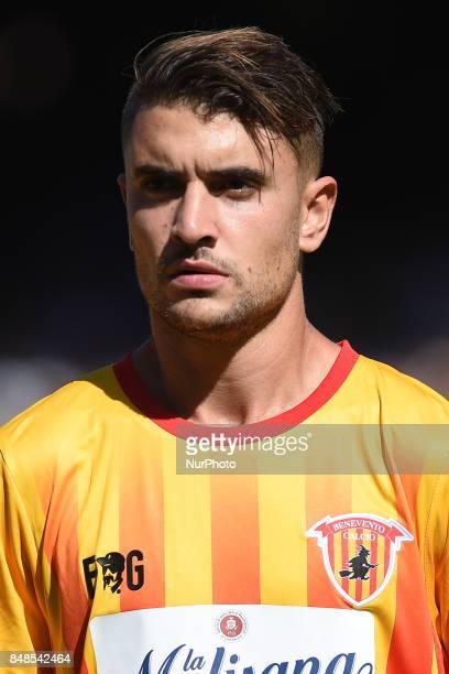 Luca Antei of Benevento Calcio during the Serie A TIM match between SSC Napoli and Benevento Calcio at Stadio San Paolo Naples Italy on 17 September...