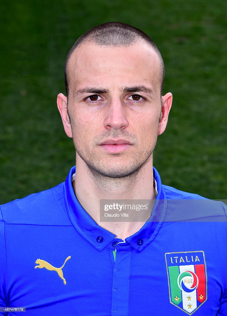 <a gi-track='captionPersonalityLinkClicked' href=/galleries/search?phrase=Luca+Antonelli&family=editorial&specificpeople=5358809 ng-click='$event.stopPropagation()'>Luca Antonelli</a> of Italy poses for a portrait session at Coverciano on March 24, 2015 in Florence, Italy.